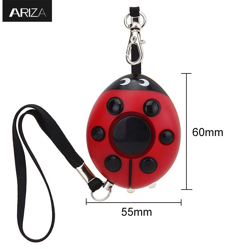 Ariza self defense Personal Alarm with Led Flashlight personal keychain alarm accept customized 130db personal alarm key chain with mobile speaker personal alarm with led flashlight support oem logo