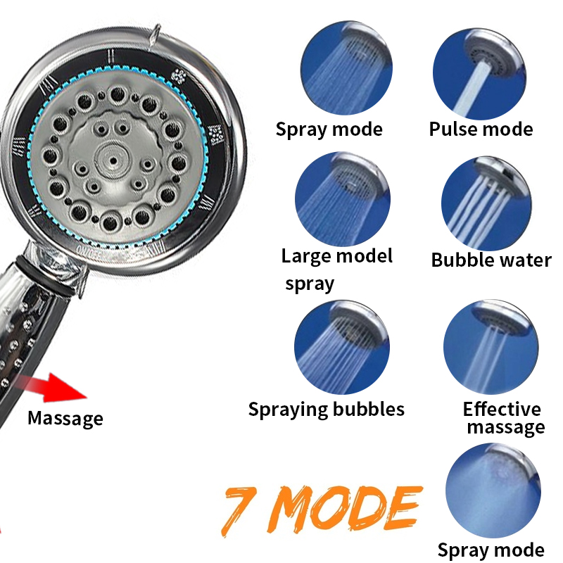 Handheld Showerhead Massage Bathroom Water-Saving Multifunctional High-Pressure High-Quality