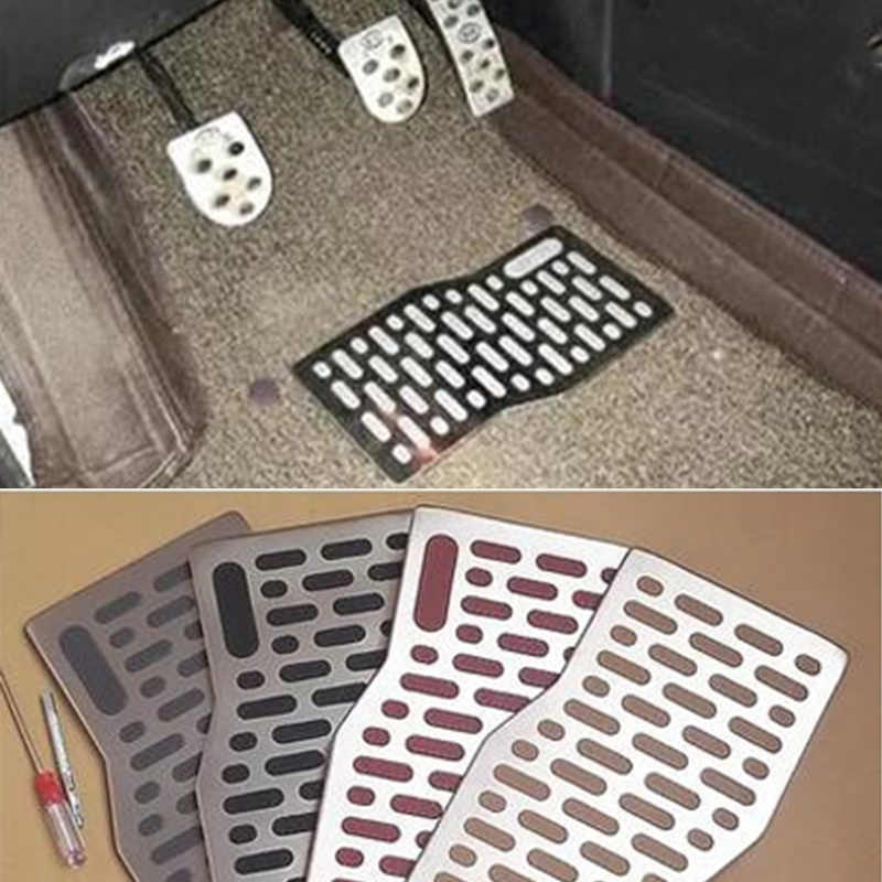 Auto vloermatten Auto Aluminium Pad Plaat Pedaal Voetsteun Matten voor AUDI A3 8 p 8l A4 b5 b6 b7 b8 A5 Q3 Q5 Q7 TT MK1 MK2 MK3 s line