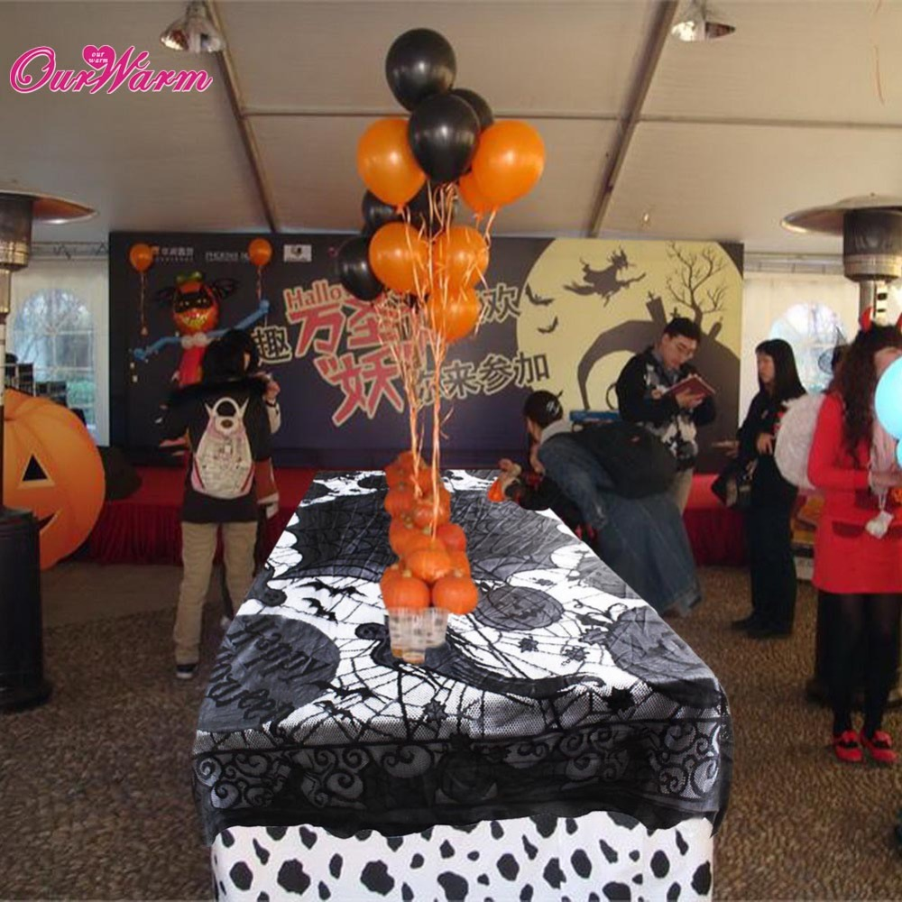 Lace Black <font><b>Spider</b></font> <font><b>Web</b></font> Tablecloth Tablecover Rectangle 60*80inch Halloween Party Decor