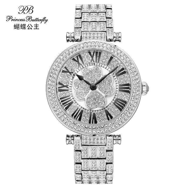 PB Fashion Watch Women Dress Quartz-Wawtch Causel Wristwatch Waterproof Female Luxury Diamond Ladies Watch HL642