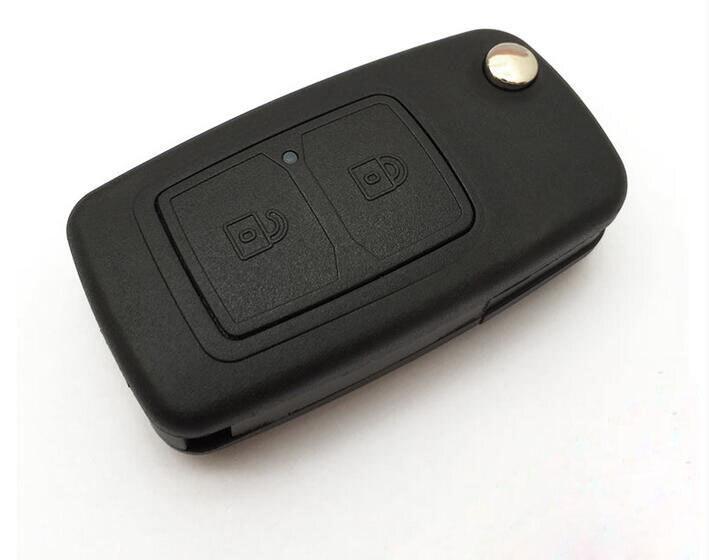 2 Botones reemplazo Flip plegable remoto key Shell caso para Chery Tiggo 3 5 QQ E5 A3 A5 E5 fulwin2 x1 M1 V5 FOB clave cubierta