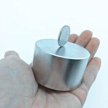 Neodimyum mıknatıs 50x30 kalıcı mıknatıs nadir toprak süper güçlü güçlü yuvarlak kaynak arama mıknatıs 50*30mm galyum metal N35
