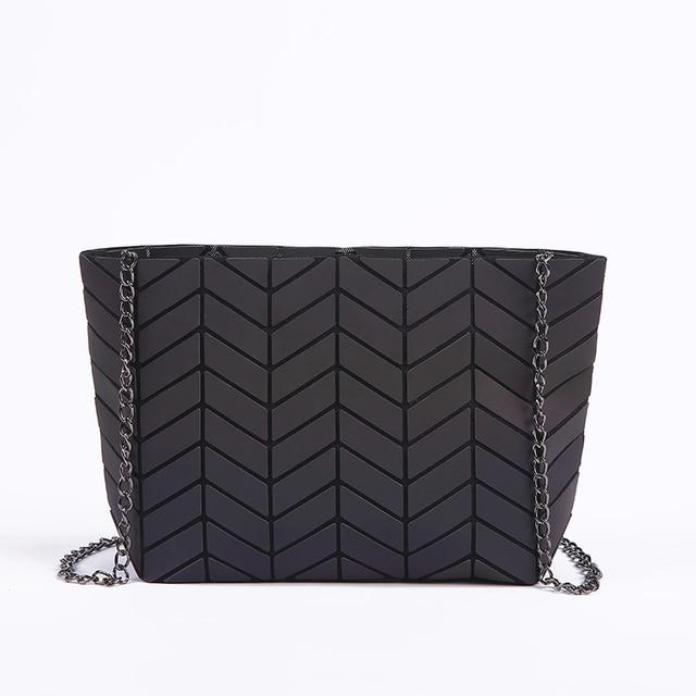 New Women Chain Shoulder Bag Luminous sac Bao Bag Fashion Geometry Messenger Bags Plain Folding Crossbody Bags Clutch bolso 4