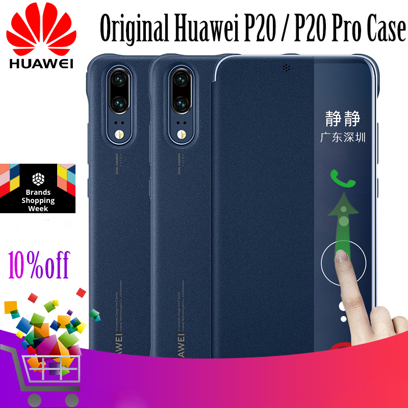 Für HUAWEI P20 Fall 100% Original Offizielle Smart View PU Leder flip-Cover für HUAWEI P20 pro Fall für Huawei p20 Abdeckung Funda