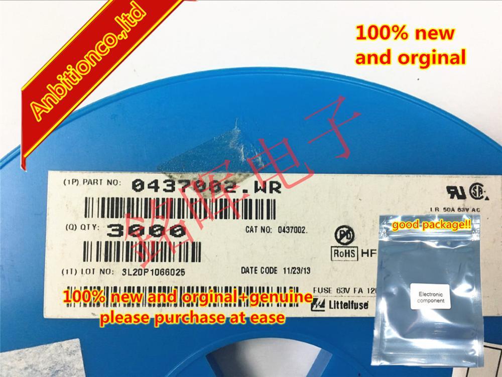 20pcs 100% New And Orginal 0437002.WR Fuse 63V FA 1206 2A Silk-screen N 3216 In Stock