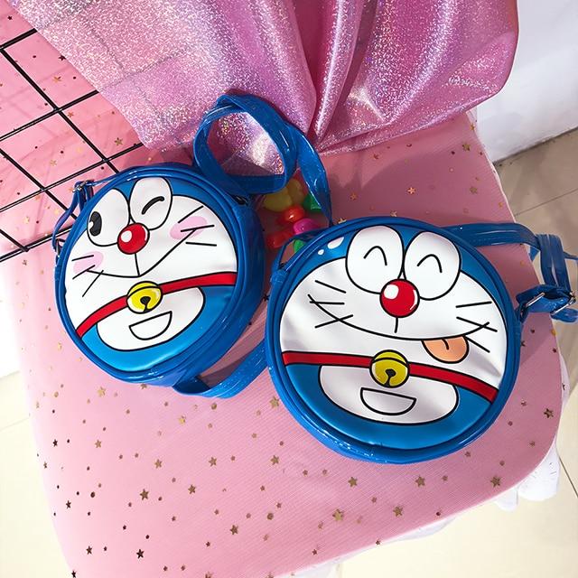 Anime Doraemon Cute Round Shoulder Messenger Bag Mini Bag Birthday Gift
