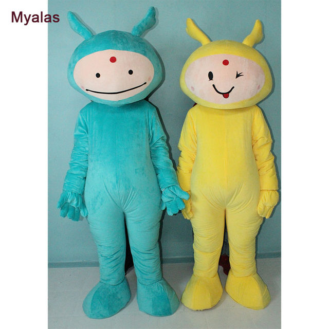 teletubbies mascot costume halloween costume teletubbies fancy dress festive clothing christmas costume blue and yellow color