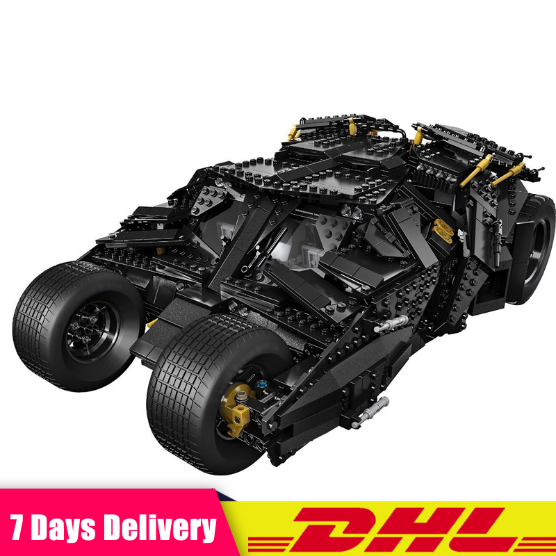 DHL Super Hero Movie The Batman Armored Chariot Building Blocks Bricks Set Toys Compatible LegoINGlys 76023 classic batman robin base cave rescue poisonous female figures weapom compatible legoinglys super hero building blocks gift