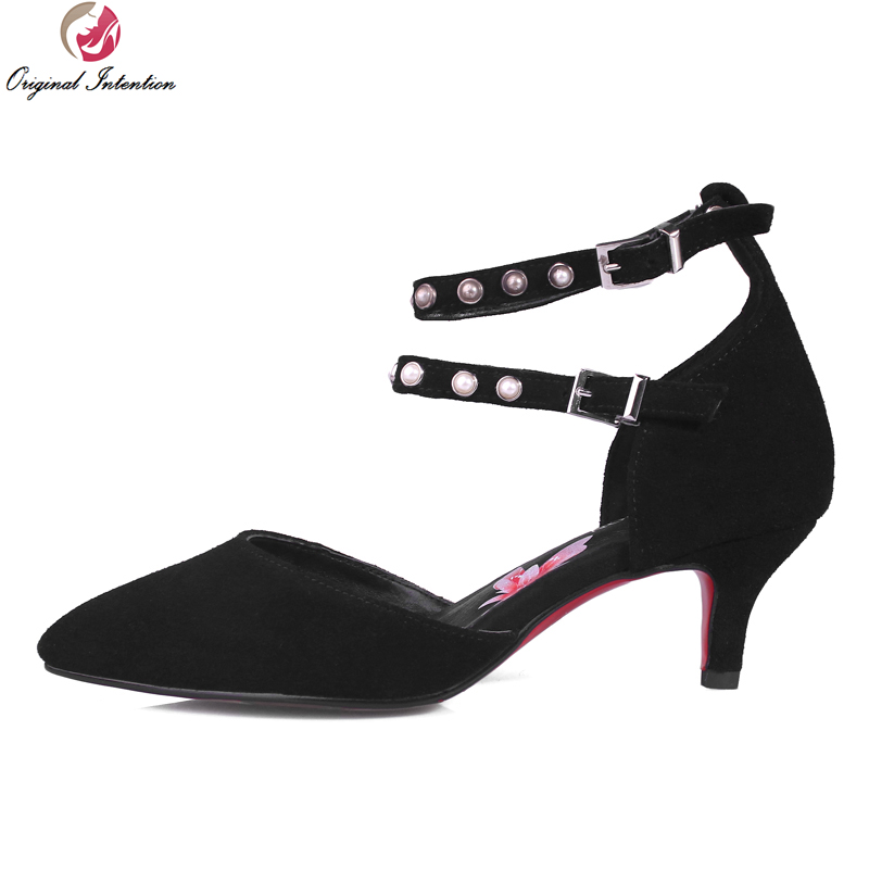 New Fashion Women Sandals High-quality Pointed Toe Thin Heels Sandals Beautiful Black Shoes Woman Plus Size 3.5-10.5 new 2017 spring summer women shoes pointed toe high quality brand fashion womens flats ladies plus size 41 sweet flock t179