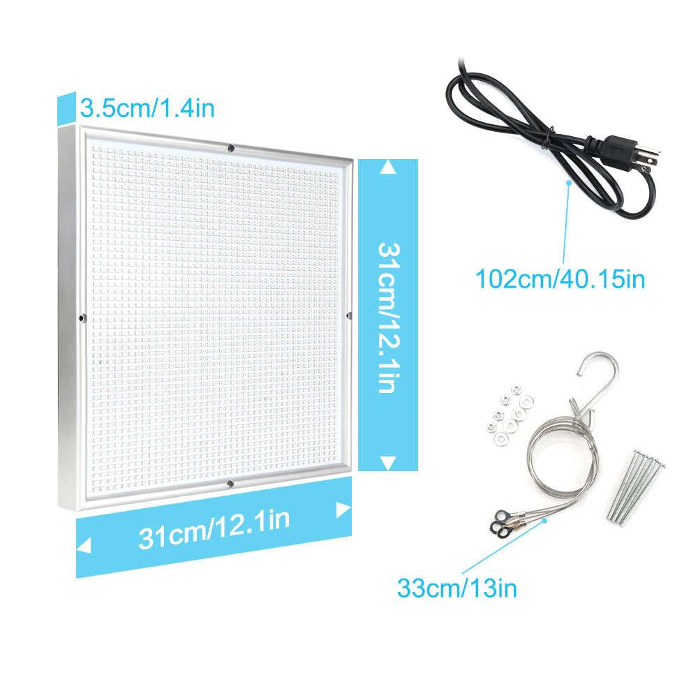 200W LED Grow Light Fitolamp 1715Röd: 294 Blå växande panel - Professionell belysning - Foto 6