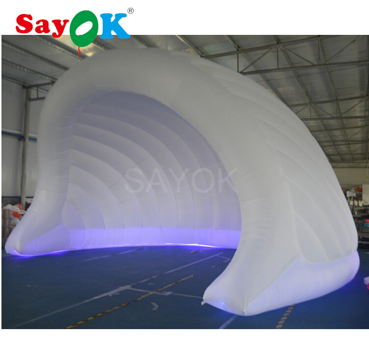 High Quality Inflatable Party Tent Structure White Inflatable Bar Tent with Led Light for Advertising StageHigh Quality Inflatable Party Tent Structure White Inflatable Bar Tent with Led Light for Advertising Stage