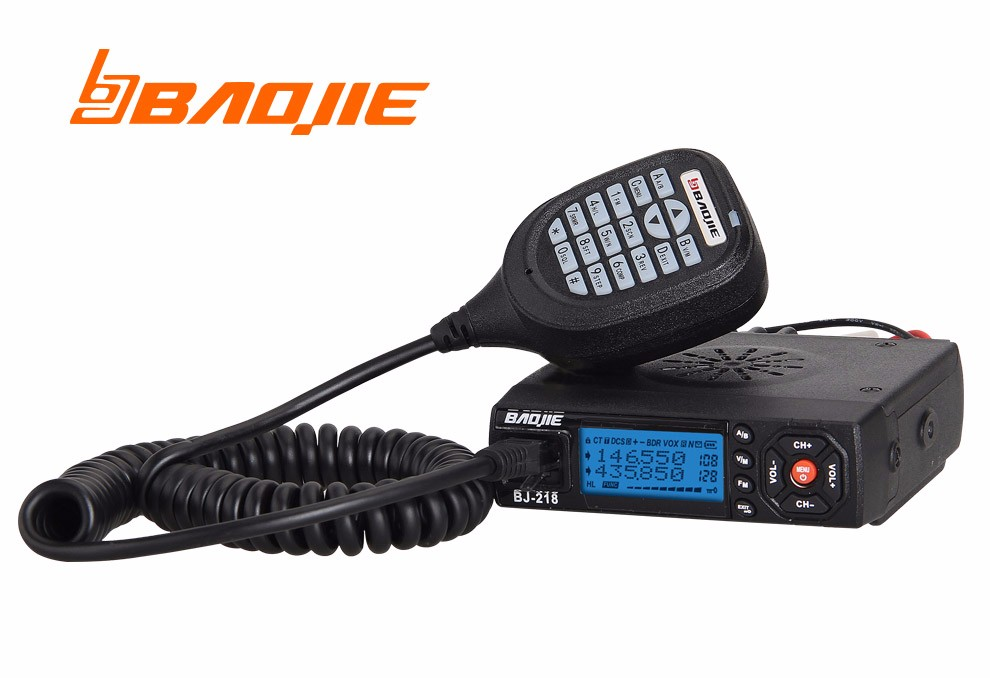 Baojie BJ-218 émetteur-récepteur Radio Mobile double bande 20/25 W stations radioélectriques pour bus de voiture