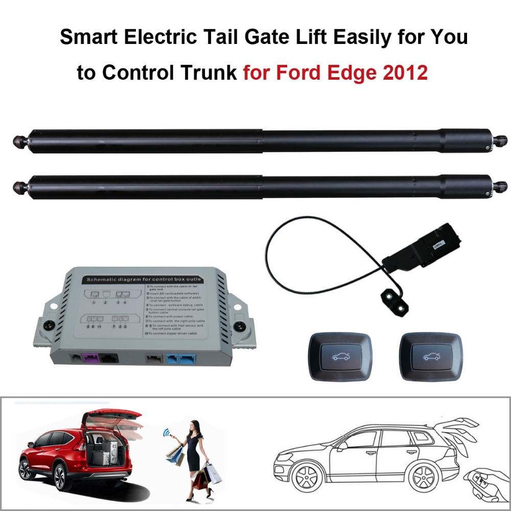 Smart Auto Electric Tail Gate Lift For Ford Edge  Control Set Height Avoid Pinch With Electric Suction