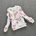 New 2017 Spring Autumn Mesh Flower Kids Shirt Long Sleeve Clothes Baby Blusas Girls Tops And Blouses School Girl Blouse  JW0476