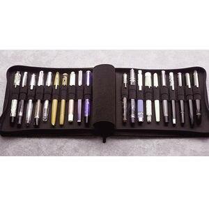 Image 1 - KACO kalem kılıfı Kalem Kutusu Çantası Mevcut 20 dolma kalem/tükenmez kalem Kutusu Tutucu Depolama Organizatör Su Geçirmez, Siyah