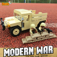 Bevle Decool 2112 Modern War Army Military Transport Vehicle Buidling Blocks Modern Kids Toy Compatible With