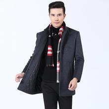 2018 new autumn and winter high grade men s coat business casual woolen coat wool jacket