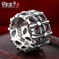 Beier 925 gioielli in argento sterling 2015 punk unico anello croce ben fatto per uomo e donna BR925R016
