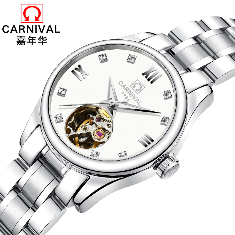Luxury Brand Carnival Women Watches ladies Automatic Mechanical Watch Women Sapphire Waterproof relogio feminino Clock C8789L-2 luxury brand carnival women watches ladies automatic mechanical watch women sapphire waterproof relogio feminino clock c8789l 2