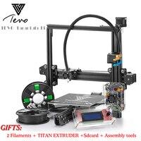 TEVO Тарантул 3d принтер DIY комплект impresora 3d принтер 2 рулона нитей Titan экструдер SD карта I3