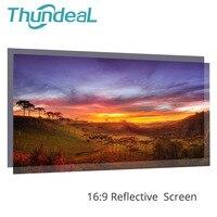 60 100 120 дюймов 16:9 проектор экран высокой яркости светоотражающая ткань для экрана для Espon BenQ проектор xgimi домашний мультимедийный проектор