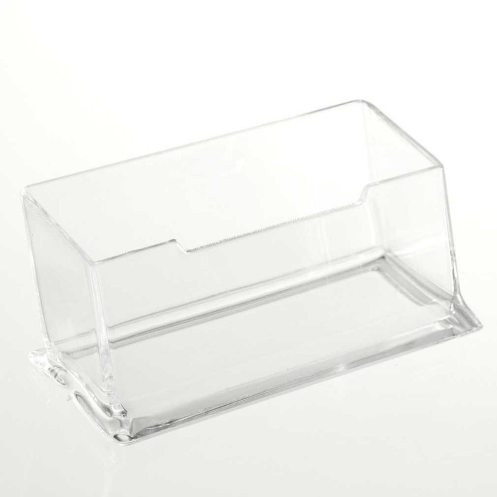 1pc Clear Acrylic Business Card Holder Display Stand Desk Desktop ...
