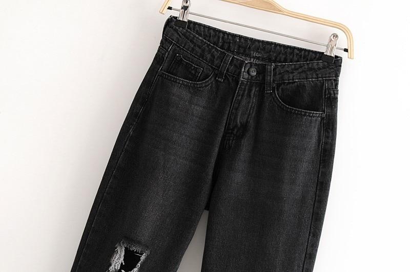 Delgado Agujero 2018 Cintura Moda Casual Alta Nueva Jeans apxqfTZx