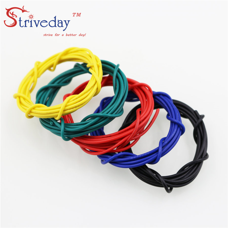 hight resolution of striveday 1007 20 awg cable copper wire 1 meter red blue green black 20awg electrical wires cables diy equipment wire