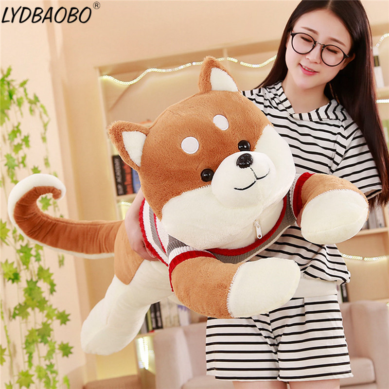 150cm Giant Creative Giant Sweater Shiba Inu Dog Plush Toy Stuffed Soft Kawaii Animal Cartoon Pillow Lovely Gift Doll Kids Baby 43inch papa plush dog 110cm kawaii soft animal oversize dog cute pap stuffed pusher pillow doll porcelain toys bouquet doll