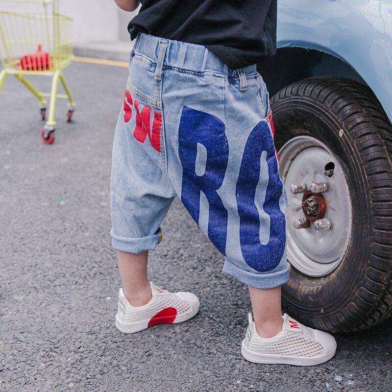 Letnie spodnie jeansowe chłopięce 2018 nowe spodenki dziecięce - Ubrania dziecięce - Zdjęcie 1