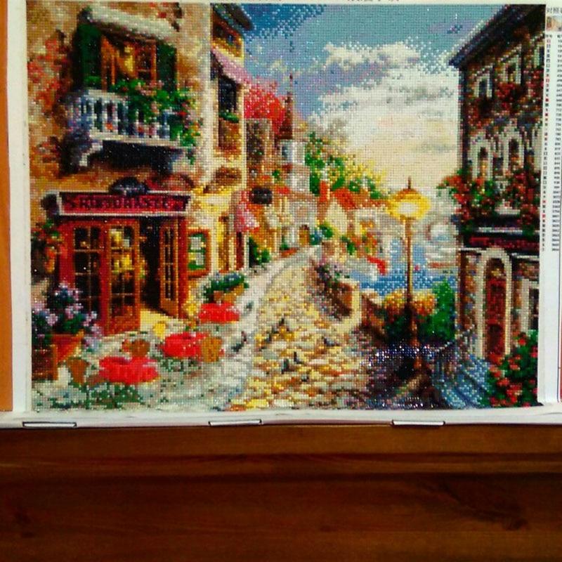 Craft Robótki Diy Rękodzieło Miasto Krajobraz Diamentowe Malowanie - Sztuka, rękodzieło i szycie - Zdjęcie 2