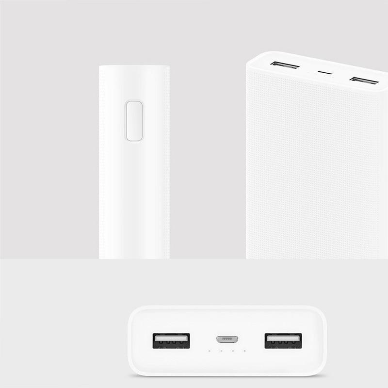 D'origine batterie externe de xiaomi 20000 mAh 2C chargeur portable Soutien QC3.0 Double USB mi batterie externe Banque 20000 pour téléphones portables - 6