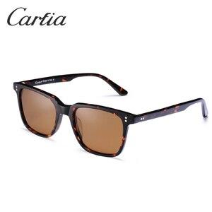 Image 2 - Carfia marka projektant HD spolaryzowane zabytkowe okulary męskie kwadratowe okulary jazdy moda Retro okulary 100% ochrona UV