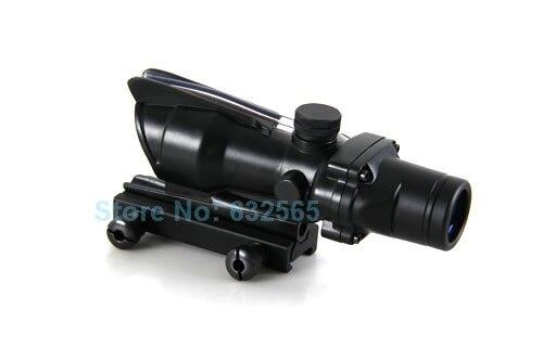 Réticule tactique 4x32 ACOG Style fusil optique portée chasse vue Airsoft pistolet portées avec 20mm rail/Mil point réticule