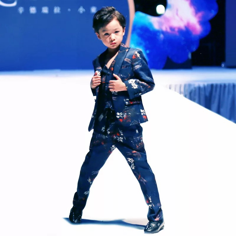 Marfoli Baby Kids Blazers Suit for Prom Daily Casual Single Breasted Boys Suit Flower Cool Boy Casual Cloth X1005