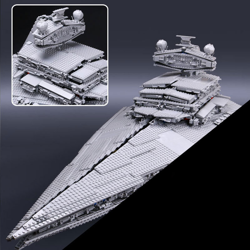 Hot 05027 3250pcs Star Fighters Starship Model Building Kit Blocks Bricks Assembling Toy Compatible with 10030 wars 05027 3250pcs star series wars classic emperor fighters starship model building blocks bricks toy compatible 10030 lepin