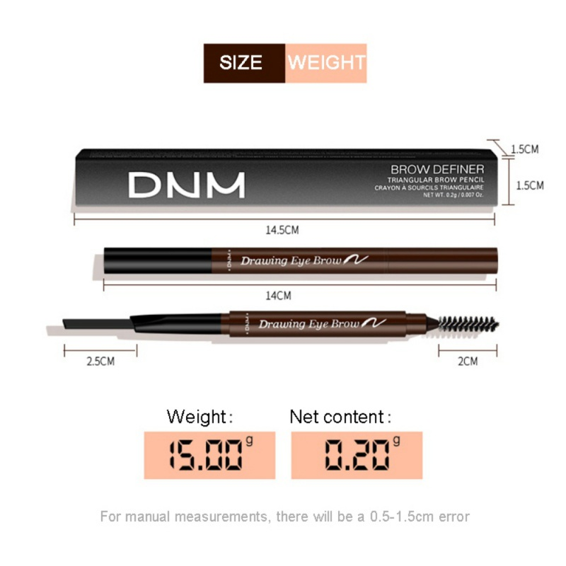 1PC 7 Colors Eyebrow Pencil Natural Waterproof Rotating Automatic Eyeliner Eye Brow Pencil with Brush Beauty Cosmetic Tool in Eyebrow Enhancers from Beauty Health