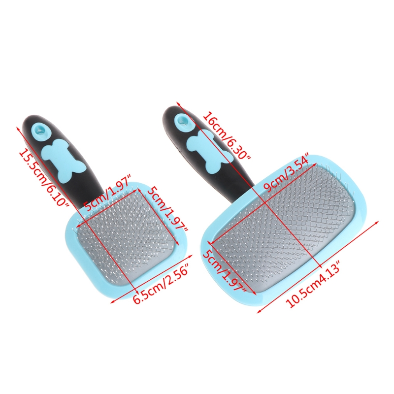 Ручка выпадения волос щетка Pin мех Уход Триммер гребень инструмент для домашних животных собака кошка