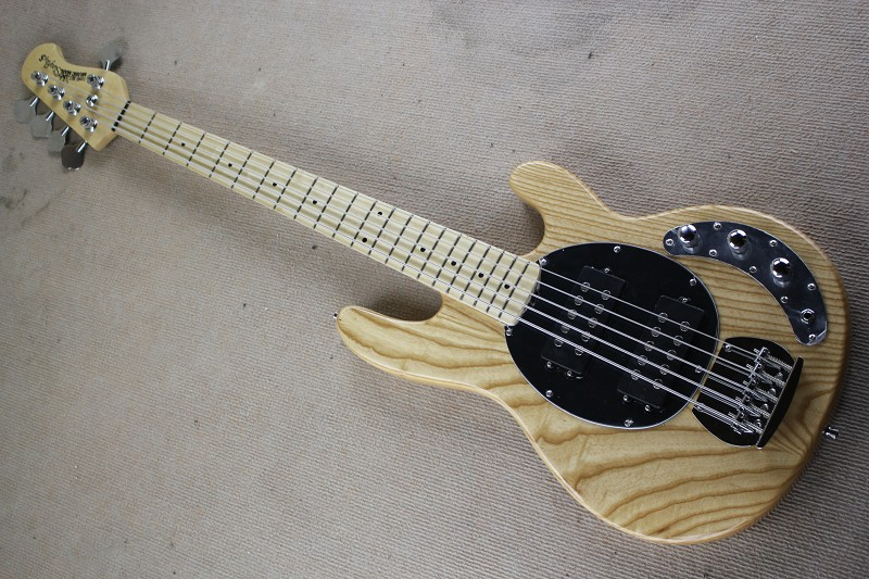 Top Quality White Ash Body Music Man Ernie Ball Sting Ray 5 Strings Electric Bass Guitar Free Shipping