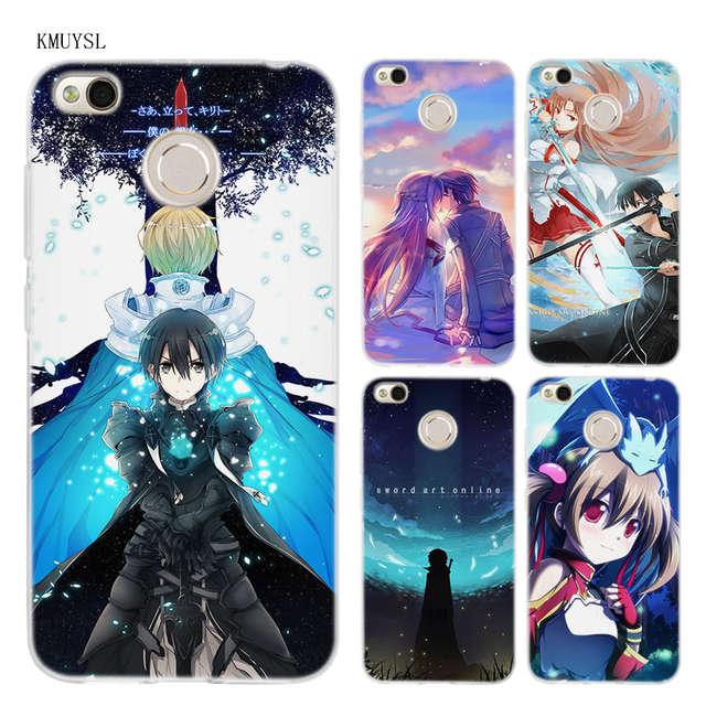 791c4f4efef Online Shop KMUYSL Anime Sword Art Online game girl Asuna Krito TPU  Transparent Soft Case Cover for Xiaomi Redmi Note 4X 4 4A 5 Mi A1 Plus    Aliexpress ...
