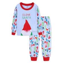 3a6b504582dc 2018 new Christmas gift Santa Cla cotton baby girls boys sets kids pajama  sets sleepwear children s