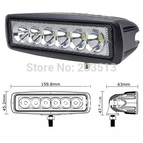 40sets/lot DC10-30V 18w LED Work Light led driving light offroad Truck Mini Boat led bar led fog lamp spotlight free shipping