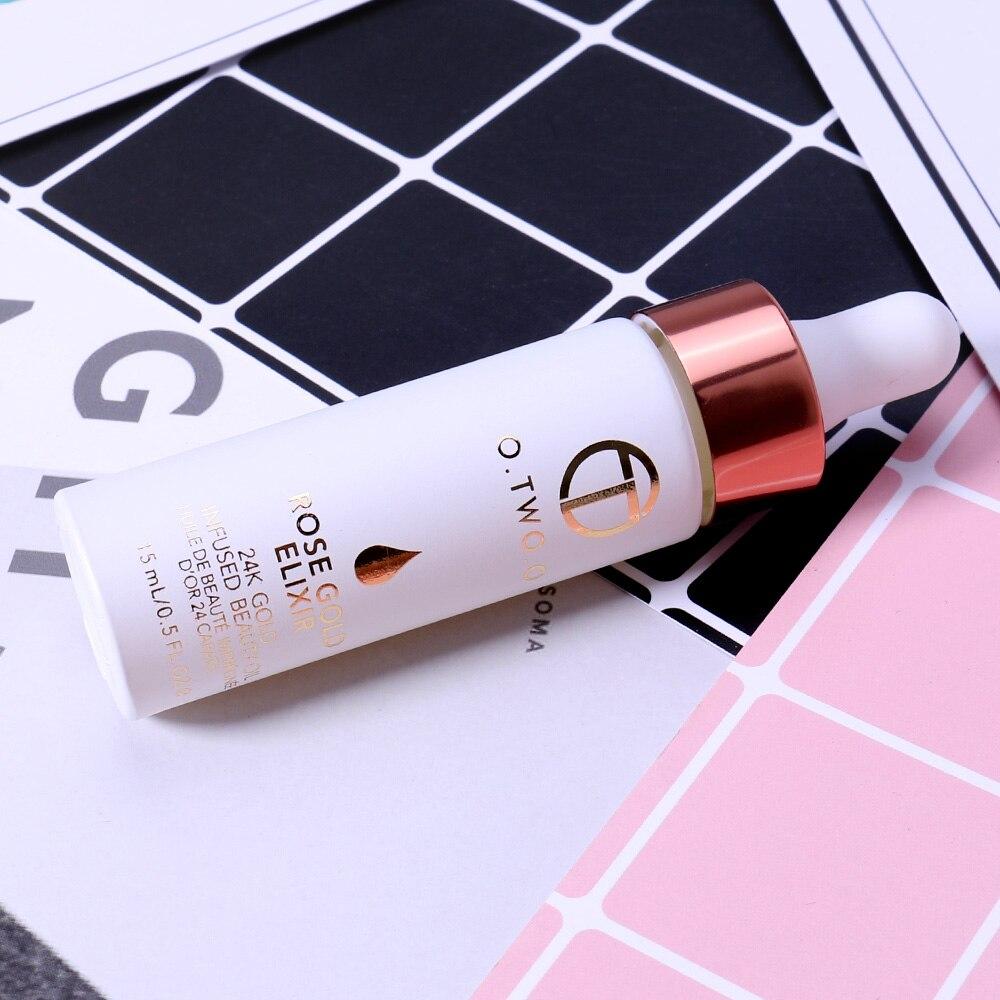 O. два. 24 К розовое золото Эфирное масло эликсир кожи макияж для лица до Primer масло Увлажняющий Витамин C лицом anti-aging