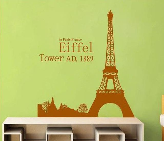2017 Sale Rushed Romantic Paris Eiffel Tower Wall Art Sticker Beautiful  View Of Diy Wallpaper Stickers