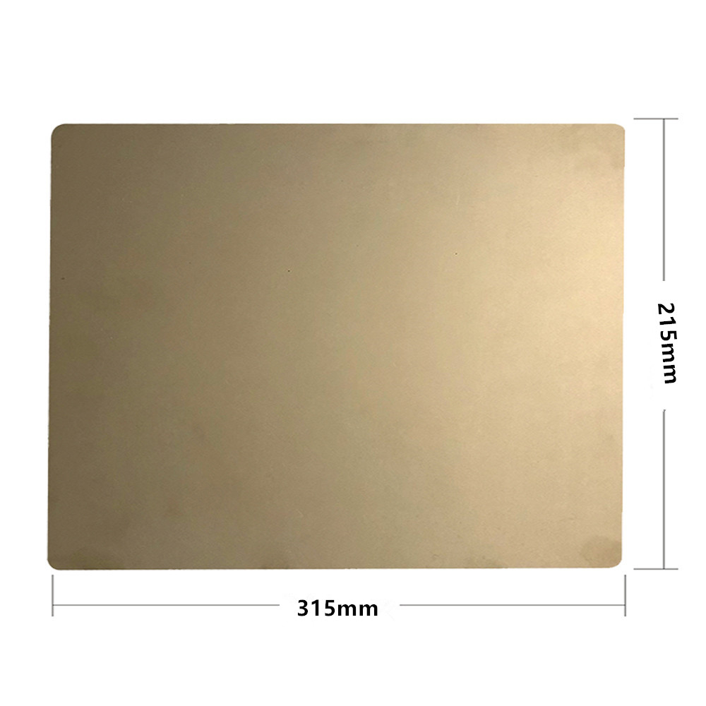 ENERGETIC New Removal Spring Steel Sheet Applied PEI Build Plate 215x315mm + Flex Magnetic Hot Bed Sticker For DIY 3D Printer