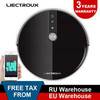 LIECTROUX Robotic Vacuum Cleaner C30B, Navigation,Memory, Map,Wet&WiFi App remote from phone,3000Pa Suction,350ml water tank
