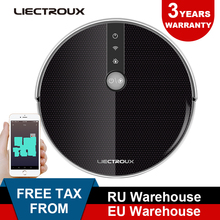 LIECTROUX Robotic Vacuum Cleaner C30B, Navigation,Memory, Map,Wet&WiFi App remote from phone,3000Pa Suction,350ml water tank все цены