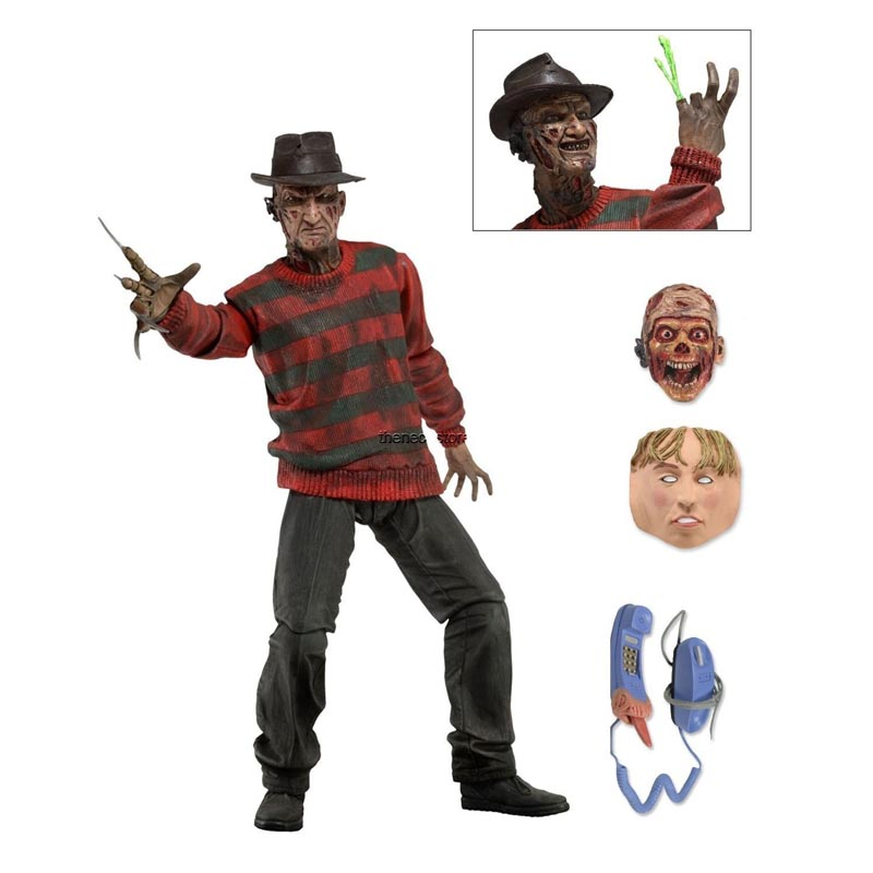 Stock sale NECA A Nightmare on Elm Street Freddy Krueger 30th PVC Action Figure Collectible Toy 7 18CM Free shipping