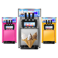 Jammielin Commercial Yogurt soft serve Ice cream machine electric flavors sweet cone ice cream maker US UK AU Plug